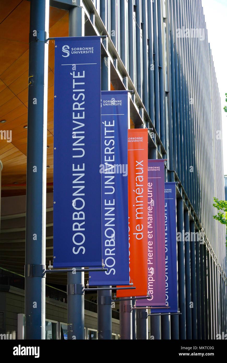 sorbonne university, paris, france - Stock Image
