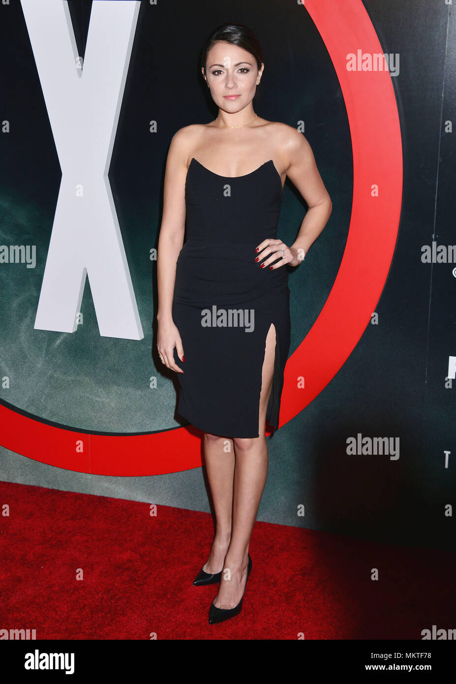 Italia Ricci 056  at The X-Files Premiere at California Science Center in Los Angeles, CA  January 12, 2016.-------- Italia Ricci 056  --------- Event in Hollywood Life - California,  Red Carpet Event, Vertical, USA, Film Industry, Celebrities,  Photography, Bestof, Arts Culture and Entertainment, Topix Celebrities fashion /  from the Red Carpet-2016, one person, Vertical, Best of, Hollywood Life, Event in Hollywood Life - California,  Red Carpet and backstage, USA, Film Industry, Celebrities,  movie celebrities, TV celebrities, Music celebrities, Photography, Bestof, Arts Culture and Entertai - Stock Image