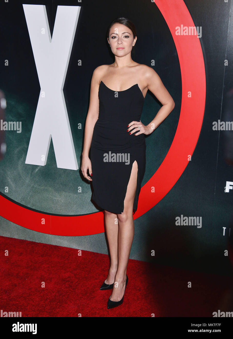 Italia Ricci 057  at The X-Files Premiere at California Science Center in Los Angeles, CA  January 12, 2016.-------- Italia Ricci 057  --------- Event in Hollywood Life - California,  Red Carpet Event, Vertical, USA, Film Industry, Celebrities,  Photography, Bestof, Arts Culture and Entertainment, Topix Celebrities fashion /  from the Red Carpet-2016, one person, Vertical, Best of, Hollywood Life, Event in Hollywood Life - California,  Red Carpet and backstage, USA, Film Industry, Celebrities,  movie celebrities, TV celebrities, Music celebrities, Photography, Bestof, Arts Culture and Entertai - Stock Image