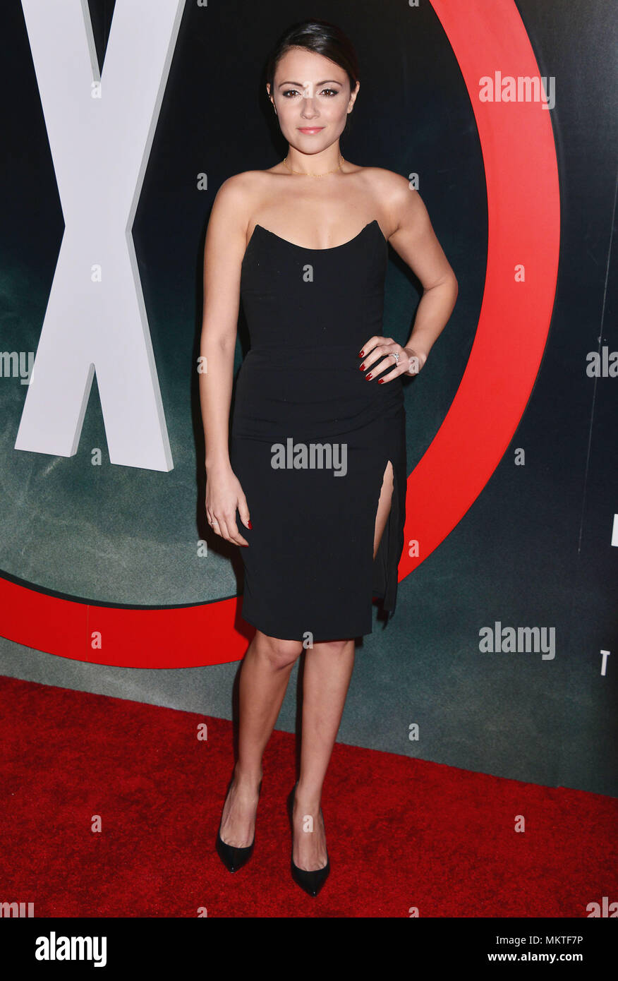Italia Ricci 058  at The X-Files Premiere at California Science Center in Los Angeles, CA  January 12, 2016.-------- Italia Ricci 058  --------- Event in Hollywood Life - California,  Red Carpet Event, Vertical, USA, Film Industry, Celebrities,  Photography, Bestof, Arts Culture and Entertainment, Topix Celebrities fashion /  from the Red Carpet-2016, one person, Vertical, Best of, Hollywood Life, Event in Hollywood Life - California,  Red Carpet and backstage, USA, Film Industry, Celebrities,  movie celebrities, TV celebrities, Music celebrities, Photography, Bestof, Arts Culture and Entertai - Stock Image