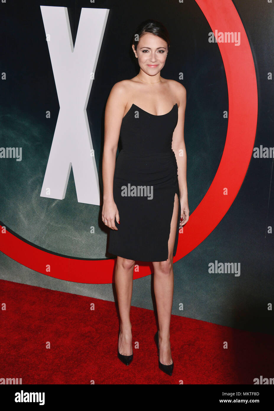 Italia Ricci 060  at The X-Files Premiere at California Science Center in Los Angeles, CA  January 12, 2016.-------- Italia Ricci 060  --------- Event in Hollywood Life - California,  Red Carpet Event, Vertical, USA, Film Industry, Celebrities,  Photography, Bestof, Arts Culture and Entertainment, Topix Celebrities fashion /  from the Red Carpet-2016, one person, Vertical, Best of, Hollywood Life, Event in Hollywood Life - California,  Red Carpet and backstage, USA, Film Industry, Celebrities,  movie celebrities, TV celebrities, Music celebrities, Photography, Bestof, Arts Culture and Entertai - Stock Image