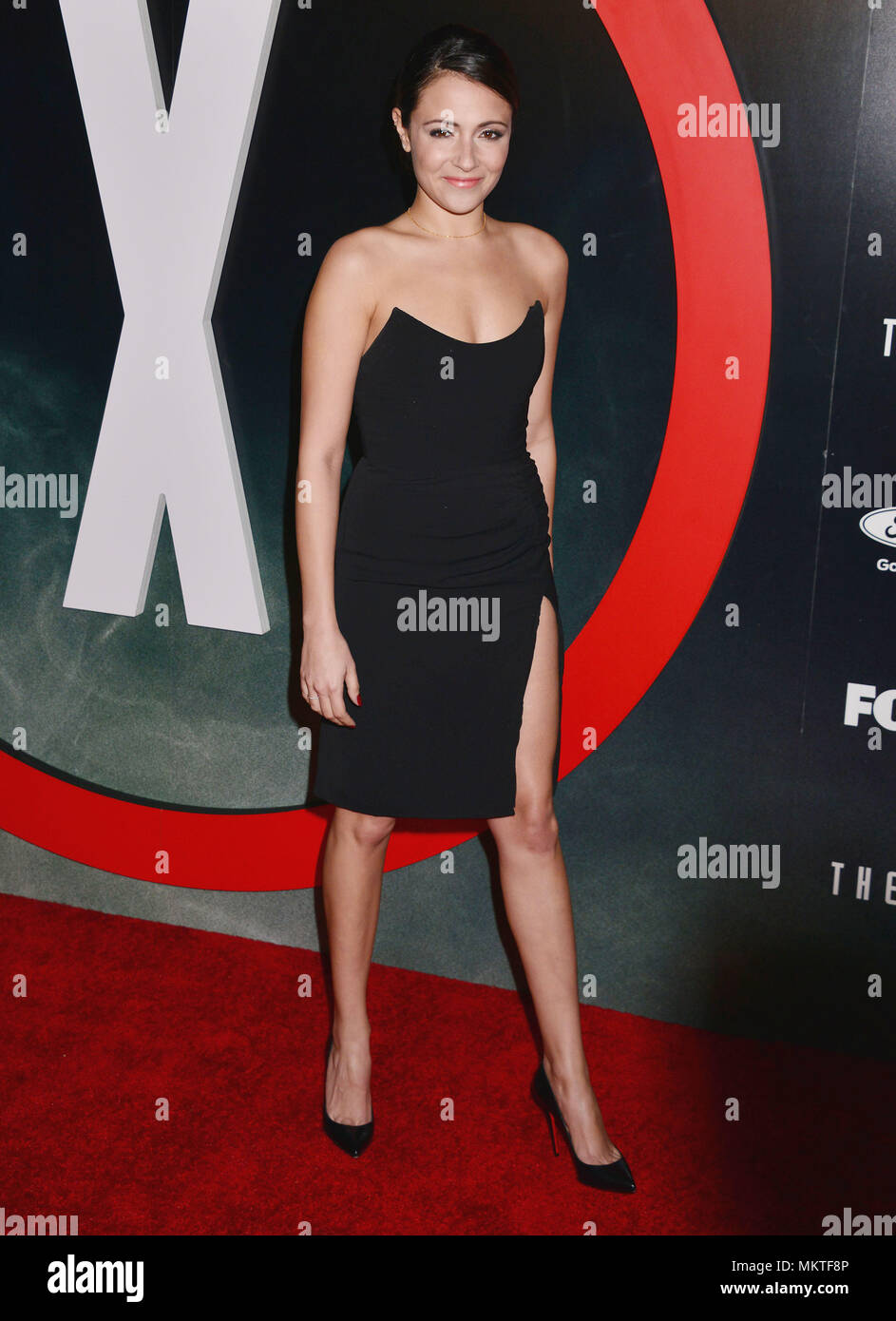 Italia Ricci 061  at The X-Files Premiere at California Science Center in Los Angeles, CA  January 12, 2016.-------- Italia Ricci 061  --------- Event in Hollywood Life - California,  Red Carpet Event, Vertical, USA, Film Industry, Celebrities,  Photography, Bestof, Arts Culture and Entertainment, Topix Celebrities fashion /  from the Red Carpet-2016, one person, Vertical, Best of, Hollywood Life, Event in Hollywood Life - California,  Red Carpet and backstage, USA, Film Industry, Celebrities,  movie celebrities, TV celebrities, Music celebrities, Photography, Bestof, Arts Culture and Entertai - Stock Image