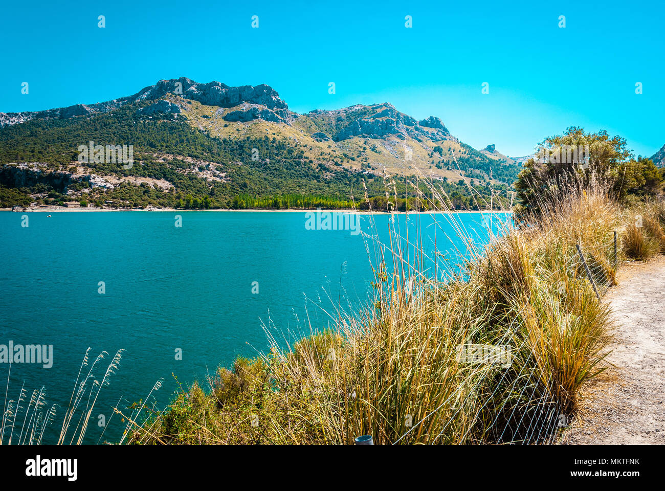 Gorg Blau, artifical lake, water supply mallorca - Stock Image