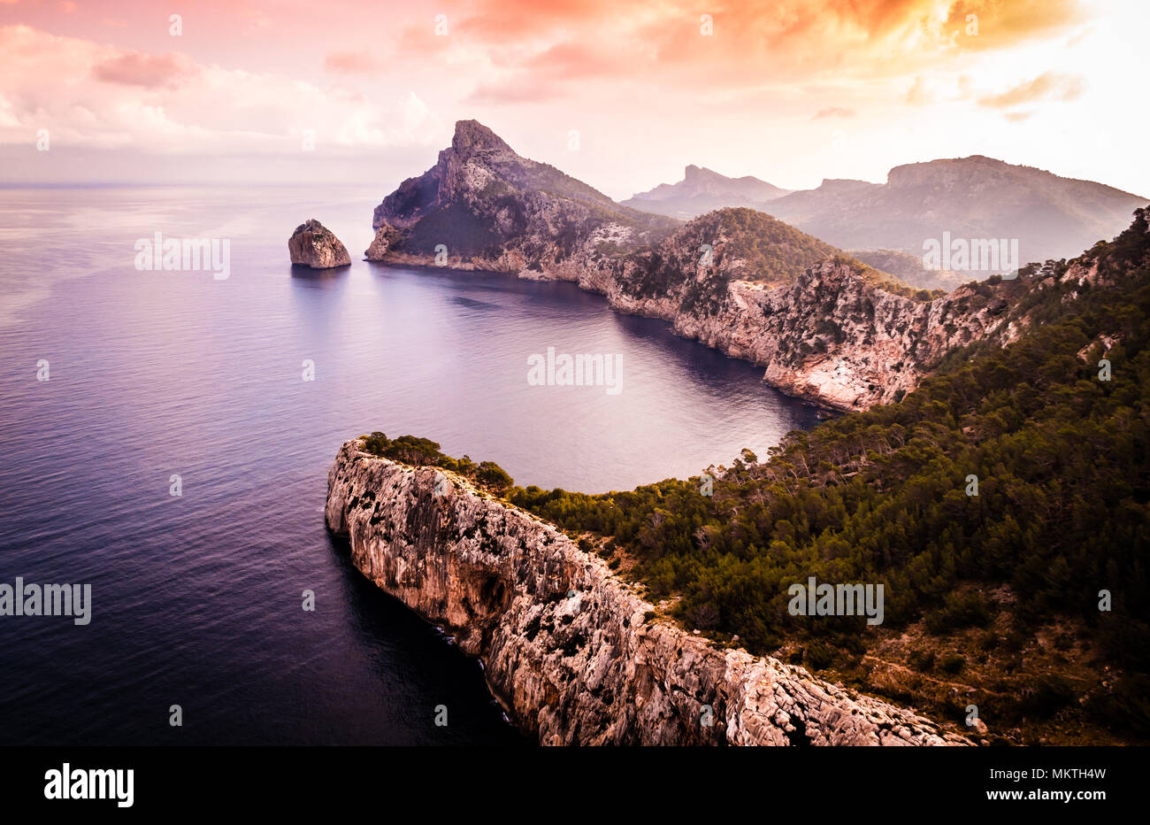 Cap Formentor at sunrise, Mallorca - Stock Image