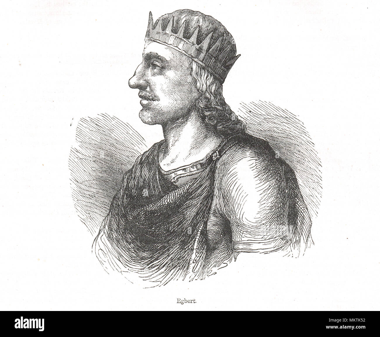 Egbert, or Ecgberht, King of Wessex who ruled from 802-839.  (Also spelt Ecgbert or Ecgbriht) - Stock Image