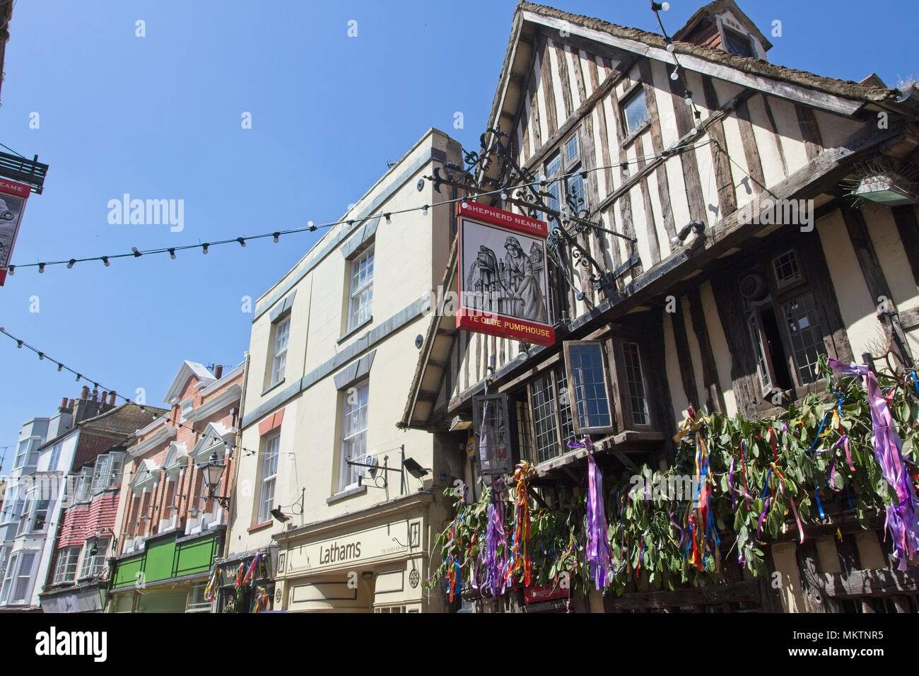 Ye Olde Pumphouse pub in Hastings Old town, East Sussex,UK - Stock Image