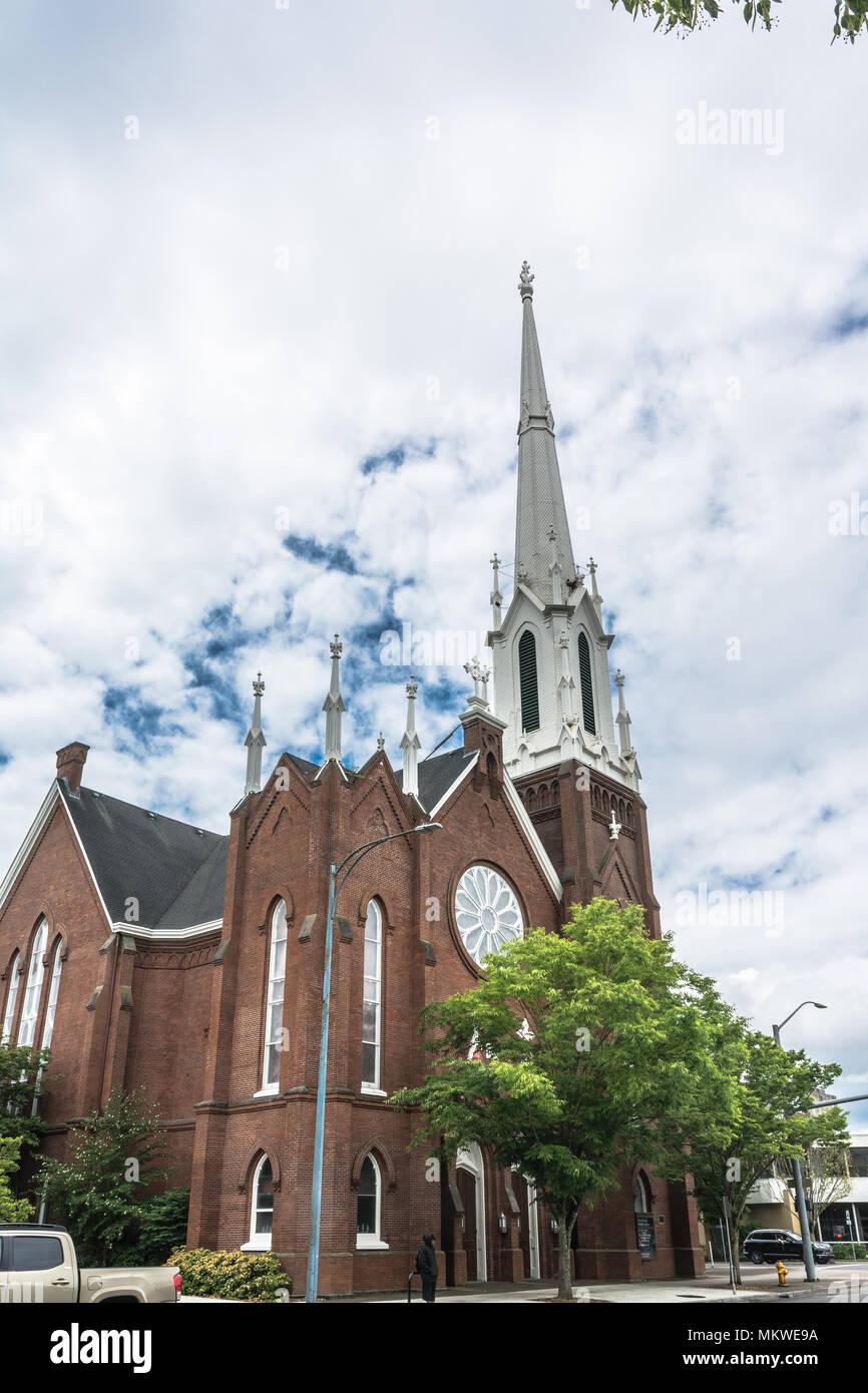 Salem,Oregon,USA - June 8,2017 : First United Methodist Church in Salem Stock Photo