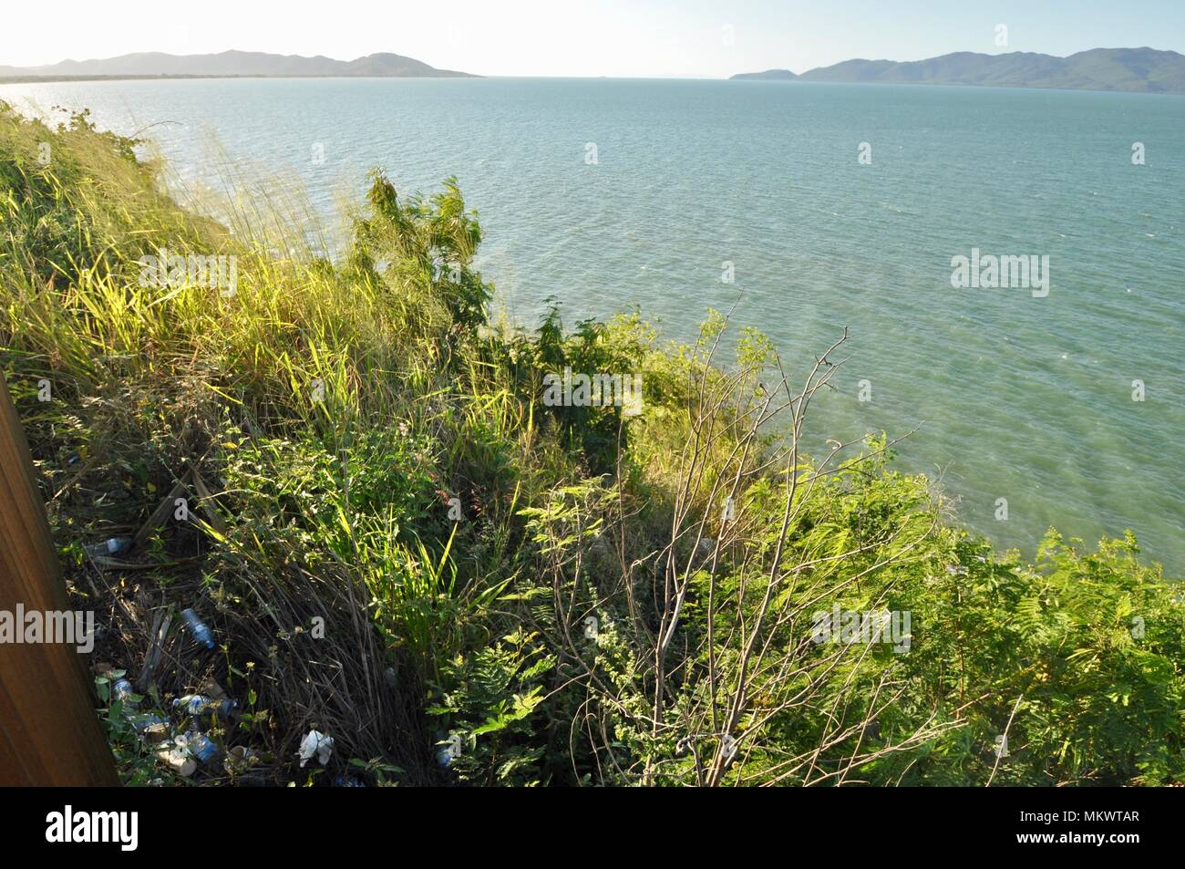 Rubbish near a lookout at Jezzine barracks, Kissing point fort, Townsville Queensland, Australia - Stock Image
