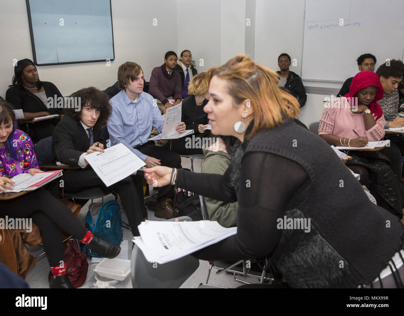 Special program for teens and young adults to learn financial literacy complete high school GED programs and prepare for working in the world today. L - Stock Image