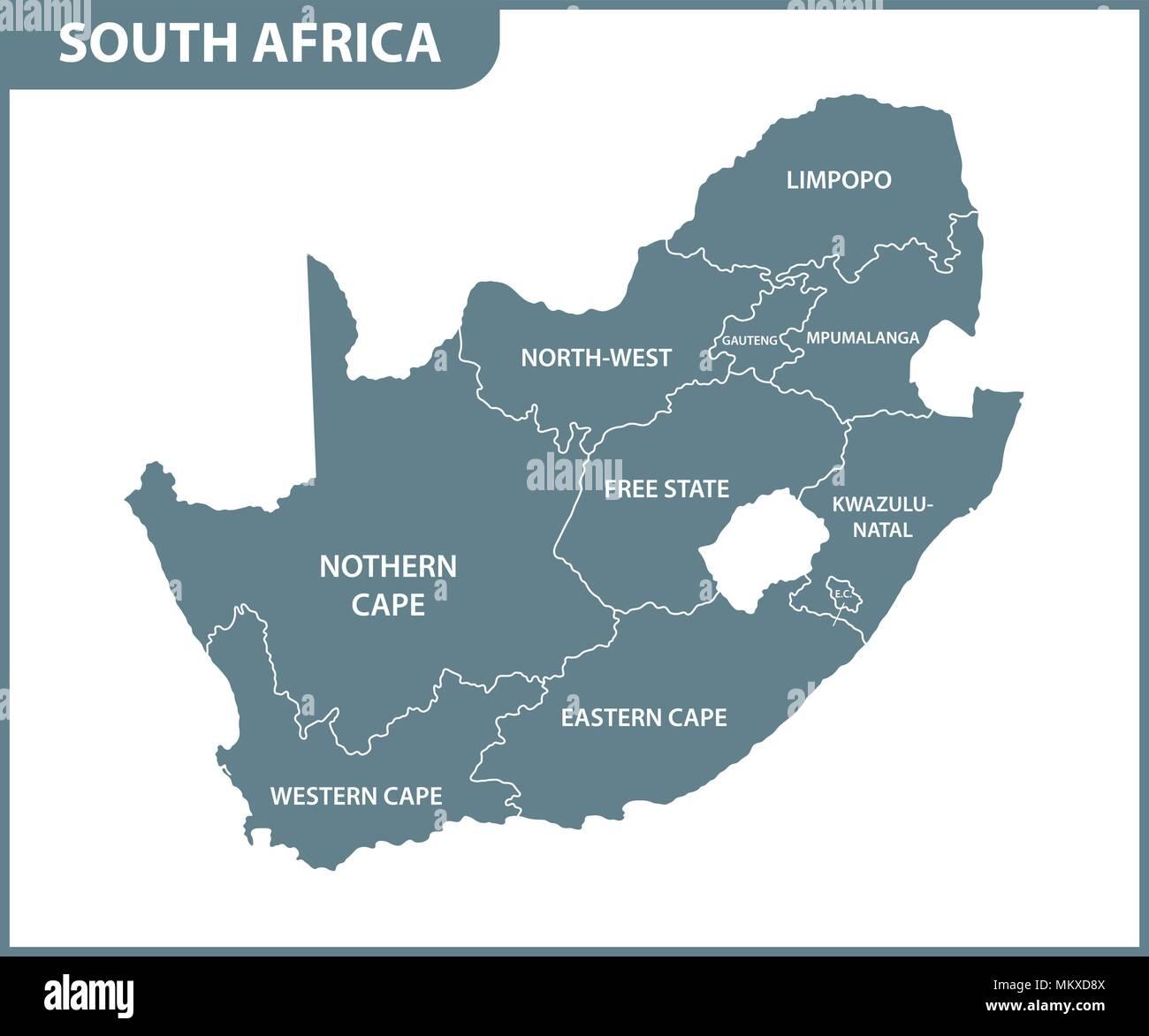 Map Gauteng South Africa Stock Photos Map Gauteng South Africa