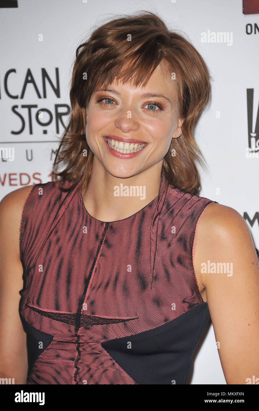lizzie brochere at the american horror story asylum premiere at the