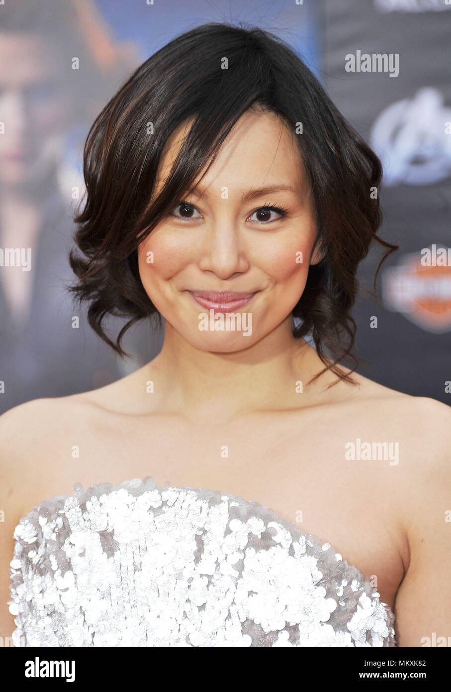 Ryoko Yonekura  at the Avengers Premiere at the El Capitan Theatre In Los Angeles.Ryoko Yonekura _104 Red Carpet Event, Vertical, USA, Film Industry, Celebrities,  Photography, Bestof, Arts Culture and Entertainment, Topix Celebrities fashion /  Vertical, Best of, Event in Hollywood Life - California,  Red Carpet and backstage, USA, Film Industry, Celebrities,  movie celebrities, TV celebrities, Music celebrities, Photography, Bestof, Arts Culture and Entertainment,  Topix, headshot, vertical, one person,, from the year , 2012, inquiry tsuni@Gamma-USA.com - Stock Image