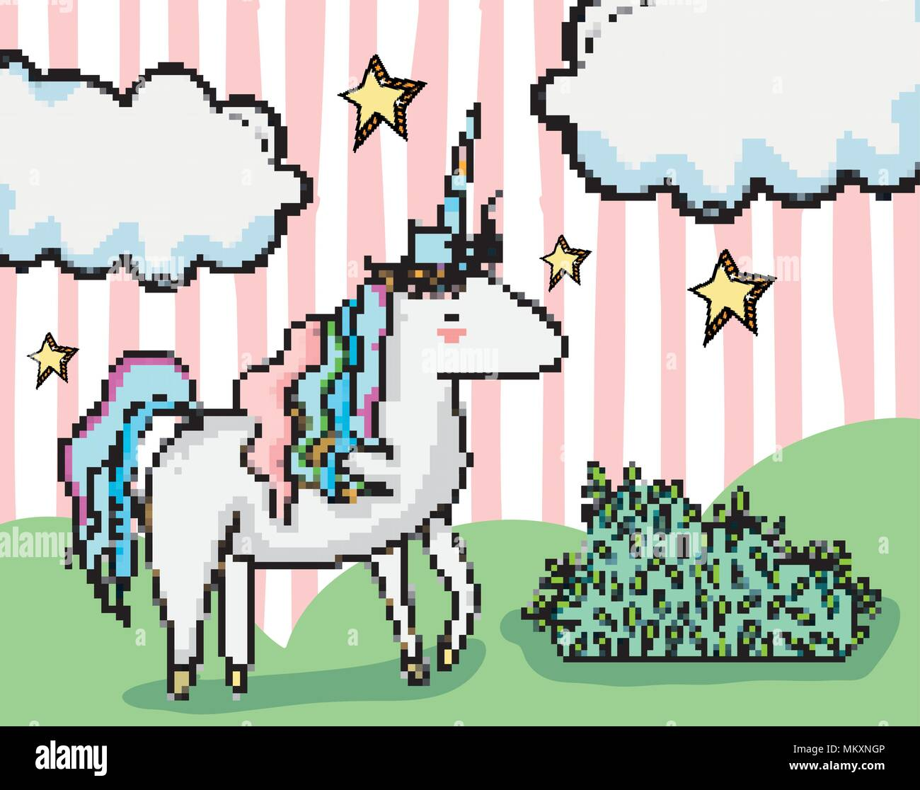 Pixel art fantasy cartoon Stock Vector Art & Illustration