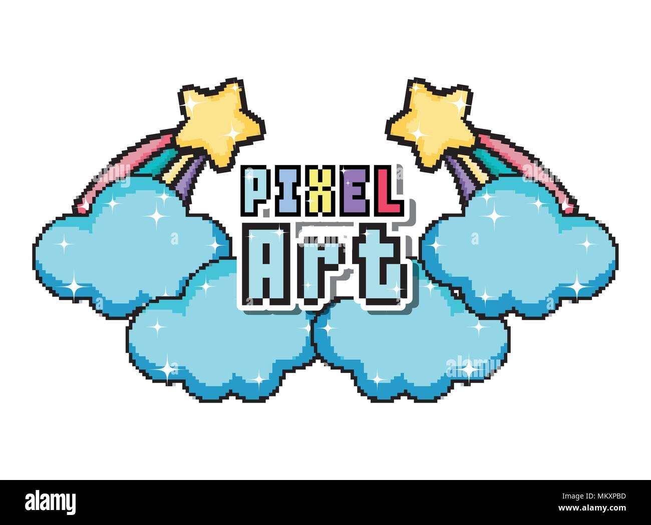 Pixel Art Cartoon Stock Vector Art Illustration Vector