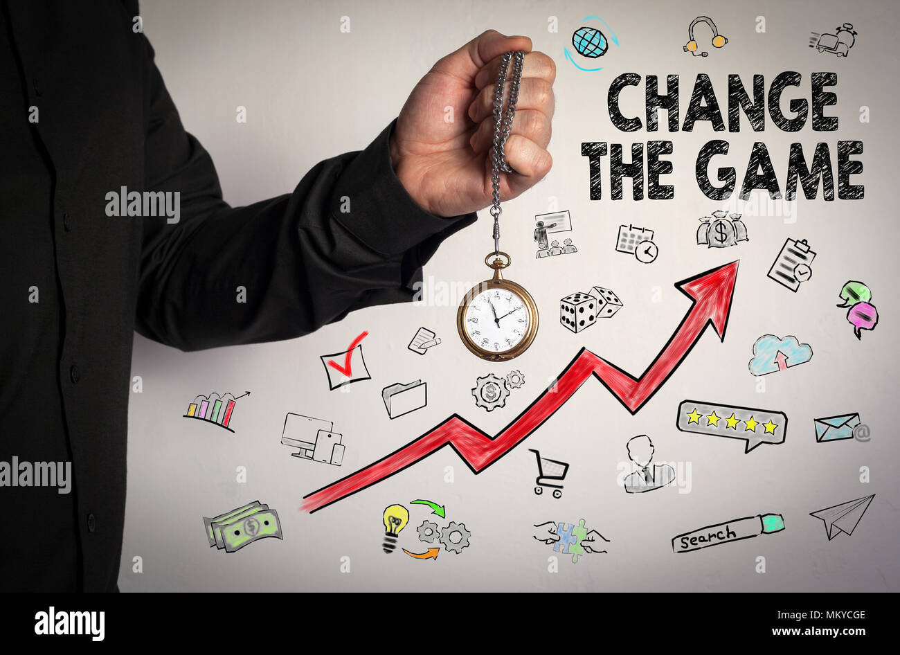 Change the game. Business concept - Stock Image