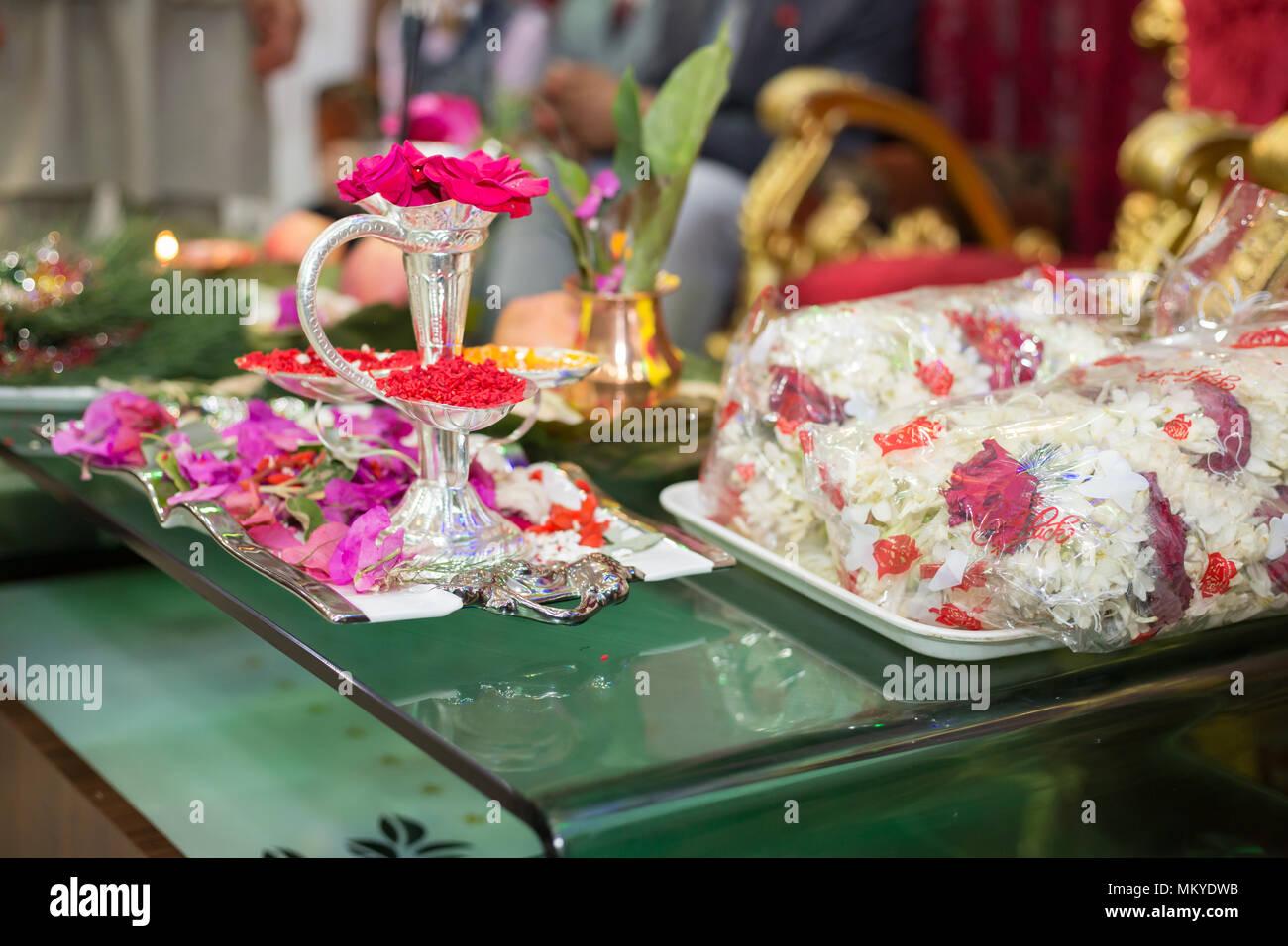 Flowersholy leavesmoney and other accessories at the hindu wedding flowersholy leavesmoney and other accessories at the hindu wedding ceremony in kathmandu nepal junglespirit Gallery
