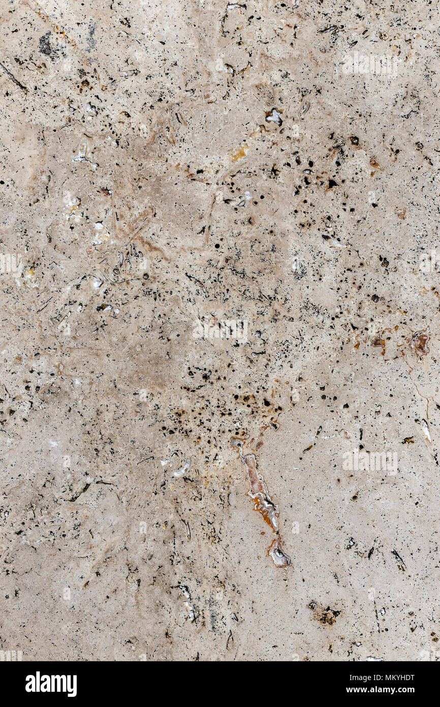 Close up of polished natural stone surface - Stock Image