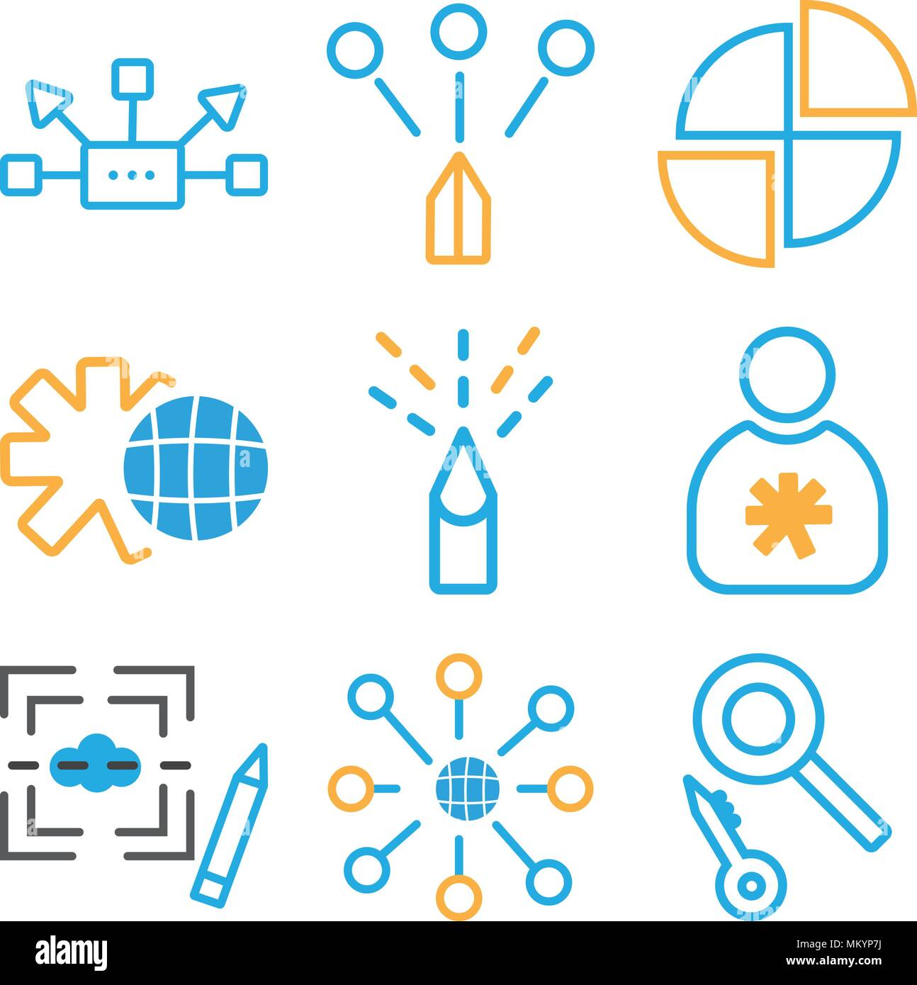 Set Of 9 Simple Editable Icons Such As Loupe Internet Graphic De