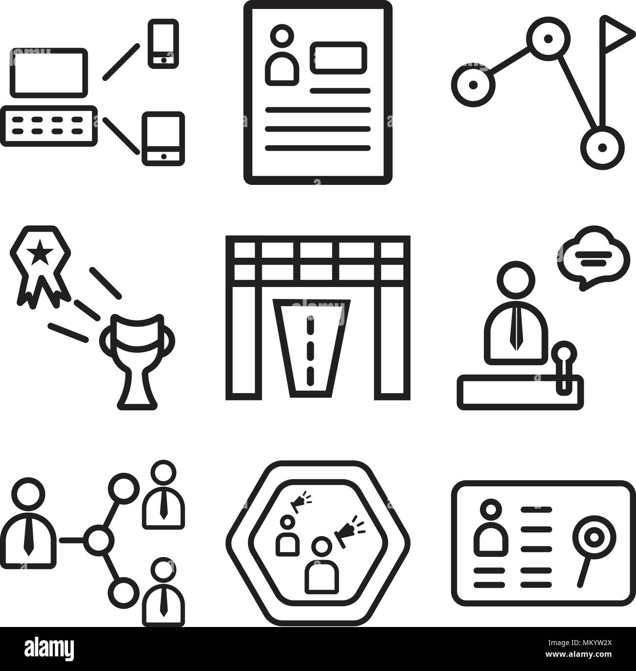 Set Of 9 simple editable icons such as Human resources, Speaker ...