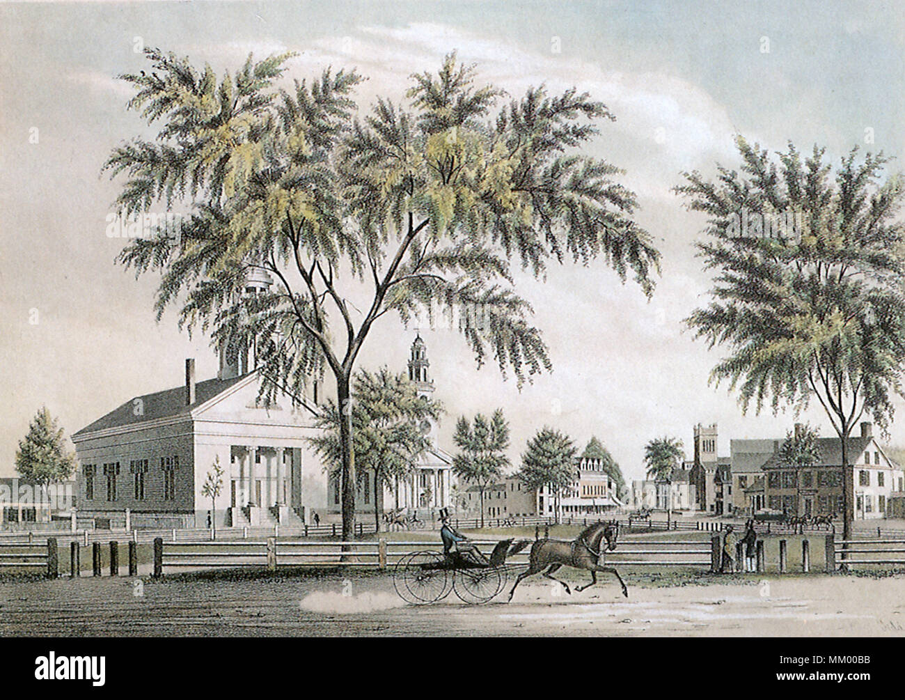 View of Woburn. 1852 - Stock Image