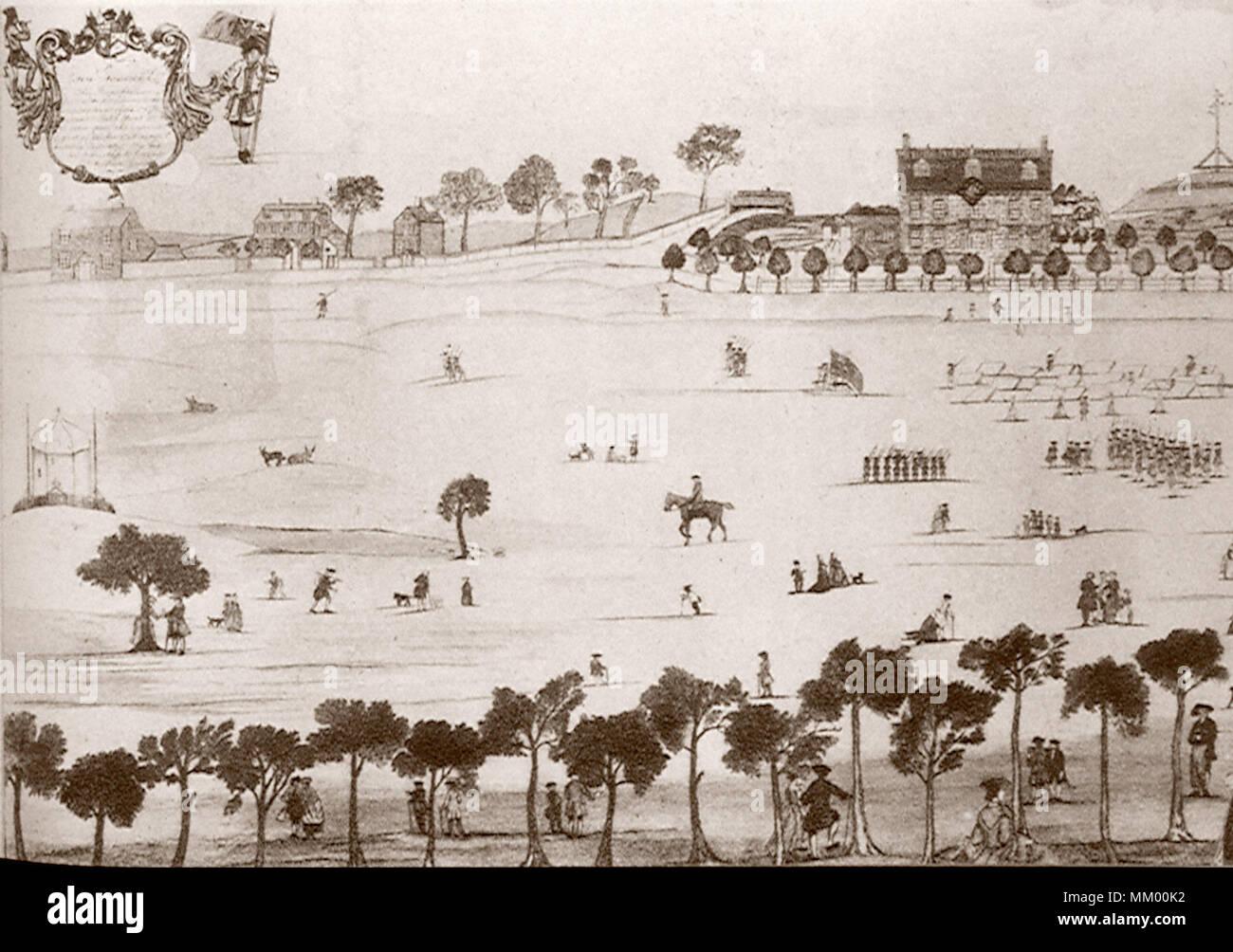 Boston Common. Boston. 1768 - Stock Image