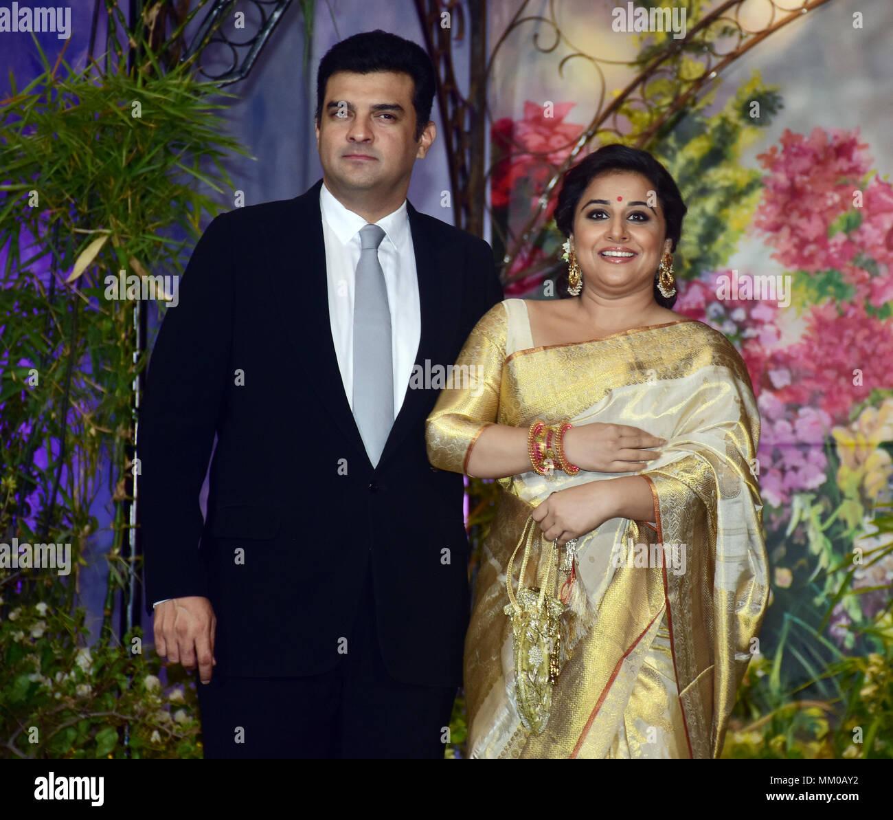 Indian Film Actress Vidya Balan With Husband Siddharth Roy Kapoor
