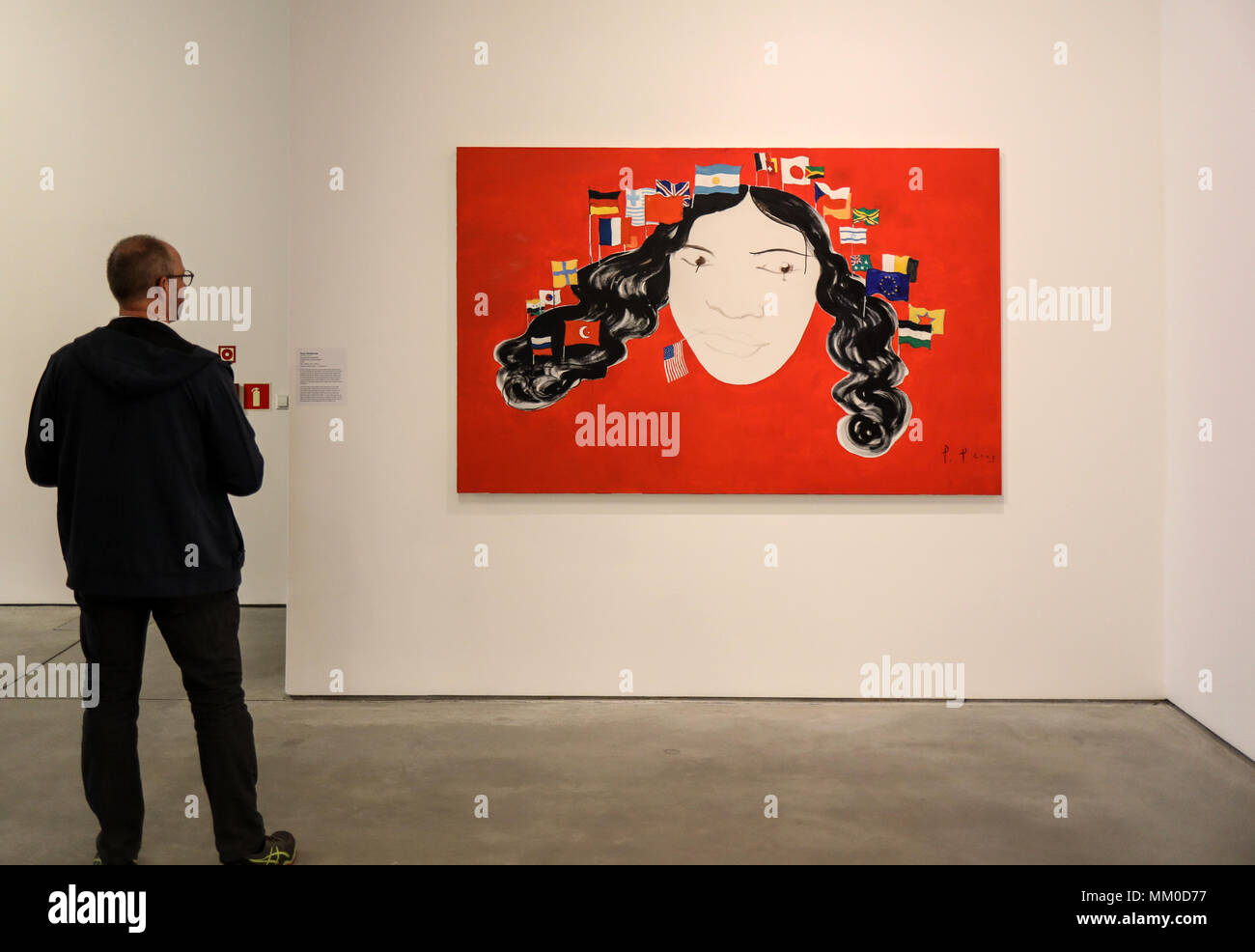 Cracow, Poland - May 8, 2018: Exibition Motherland in Art at Mocak in Krakow. Pavel Pepperstein - Perspective of Globalisation Credit: Wieslaw Jarek/Alamy Live News Stock Photo