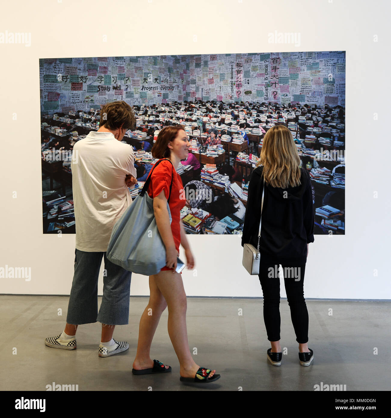 Cracow, Poland - May 8, 2018: Exibition Motherland in Art at Mocak in Krakow. Wang Quinsong - Follow me Credit: Wieslaw Jarek/Alamy Live News - Stock Image