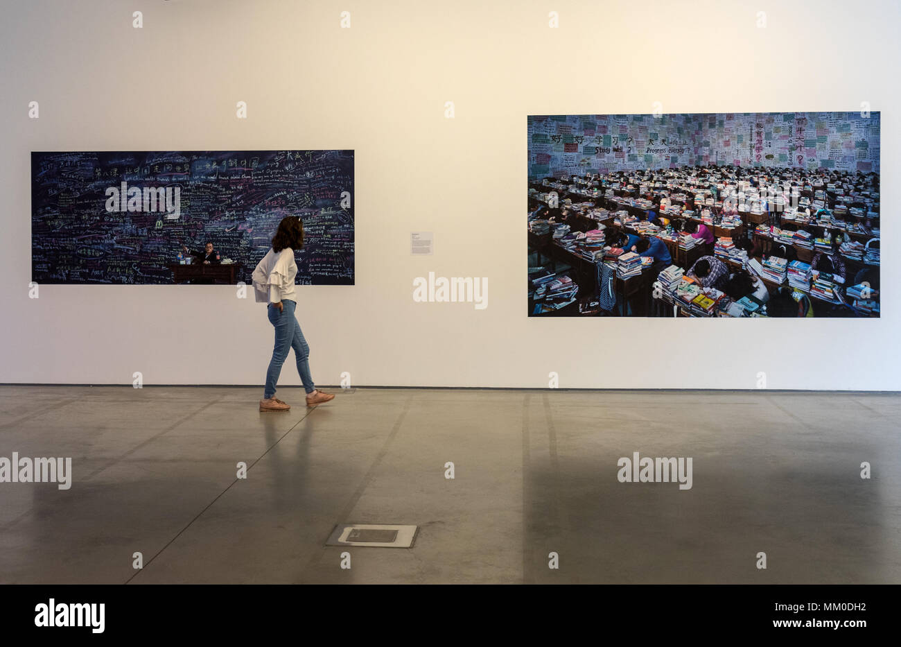 Cracow, Poland - May 8, 2018: Exibition Motherland in Art at Mocak in Krakow. Wang Quinsong - Follow me Credit: Wieslaw Jarek/Alamy Live News Stock Photo