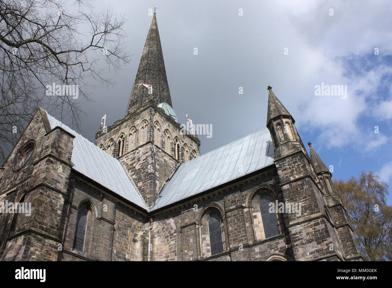 St Cuthbert's Church in Darlington in the morning Stock Photo