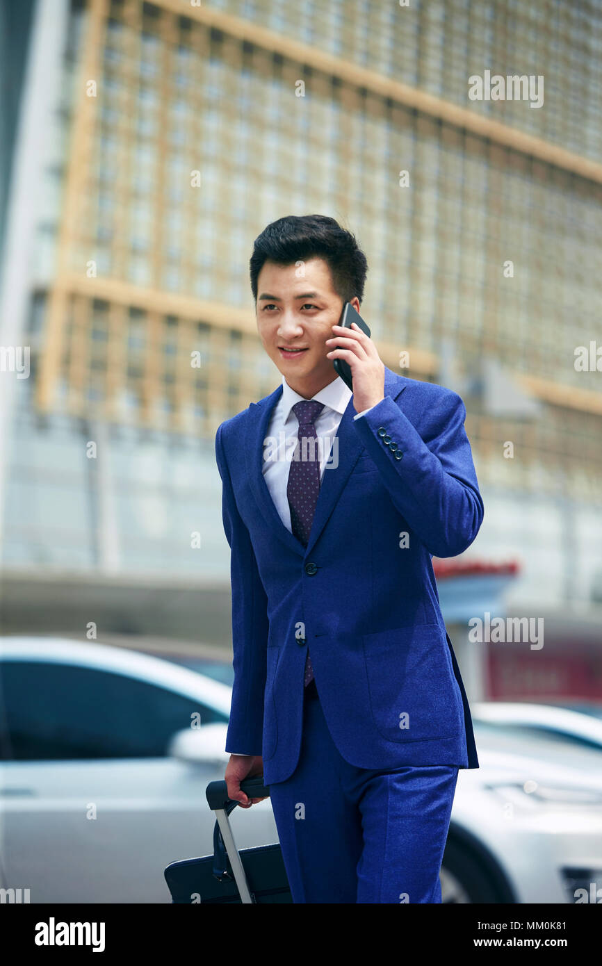 Business man make a phone call - Stock Image