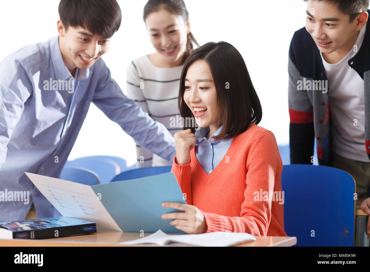 Students in the classroom - Stock Image