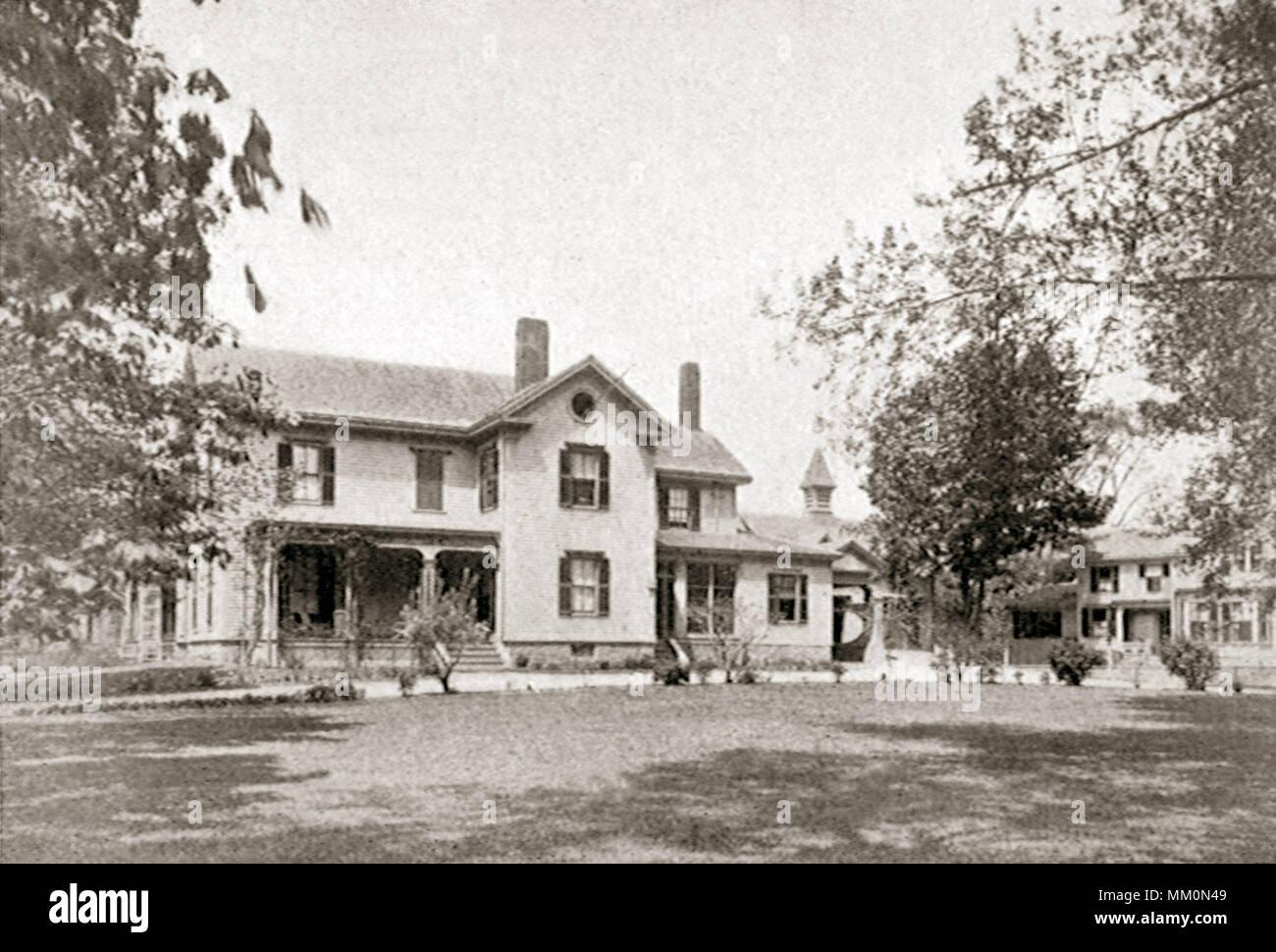 Residence of Silas D. Presbrey. Taunton. 1899 - Stock Image