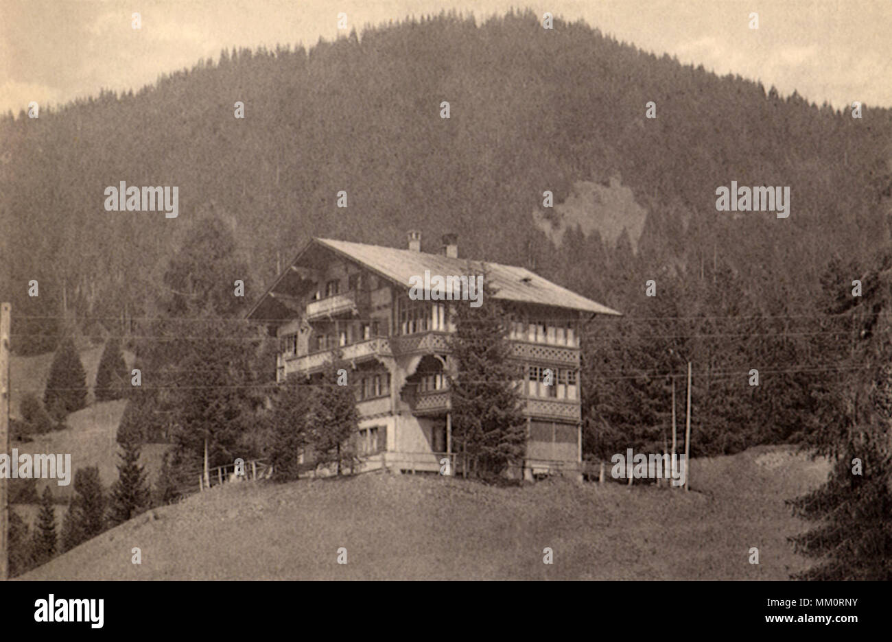 Country Cottage. Villars. 1930 - Stock Image