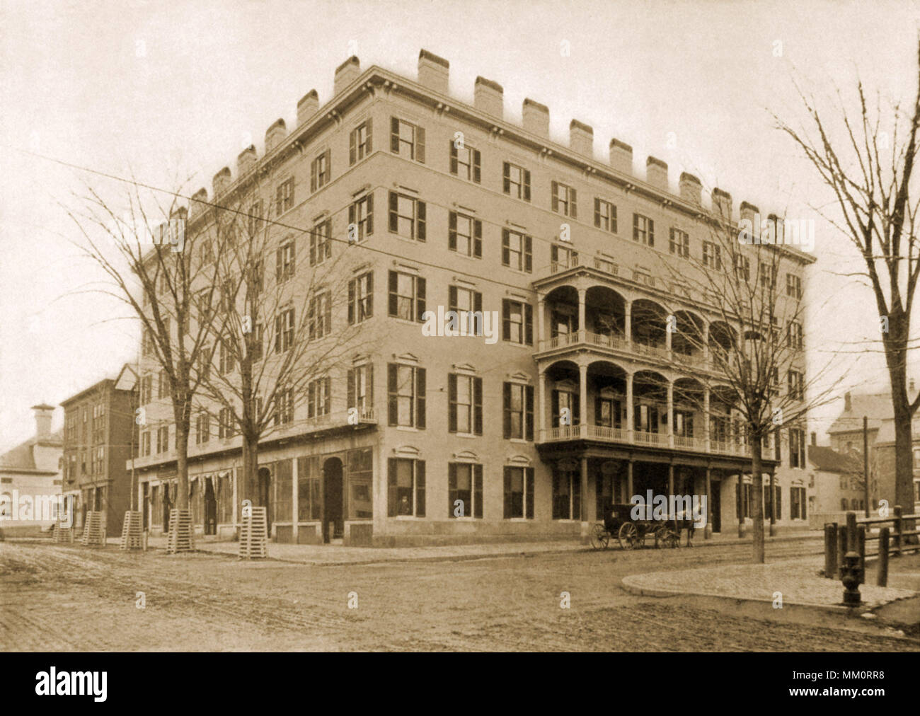 De Witt House. Lewiston. 1900 - Stock Image