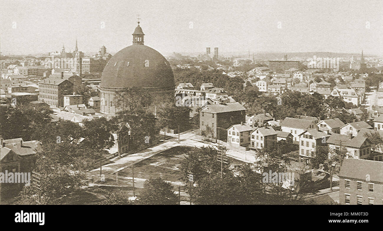 West From Rhode Island Hospital  Providence  1897 Stock