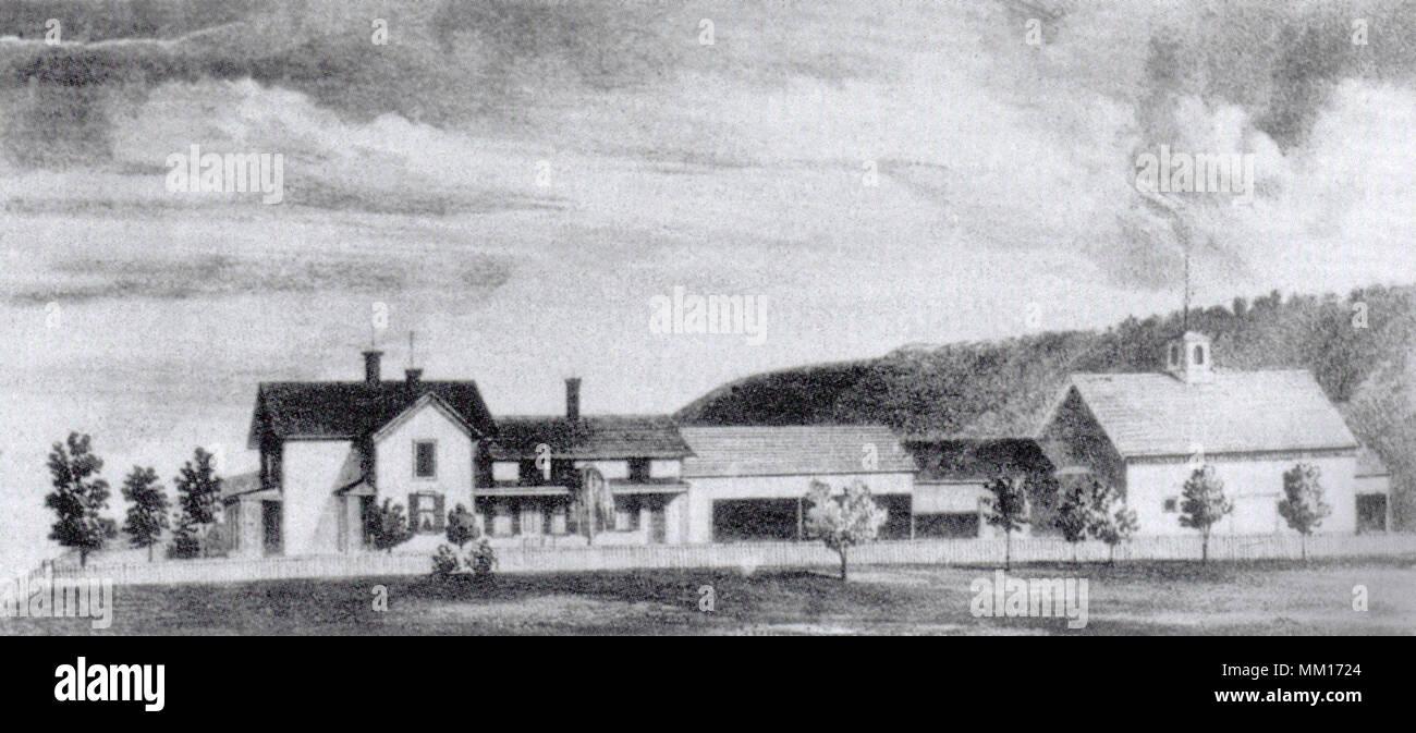 Zebina Stebbins Farm. Deerfield. 1852 - Stock Image