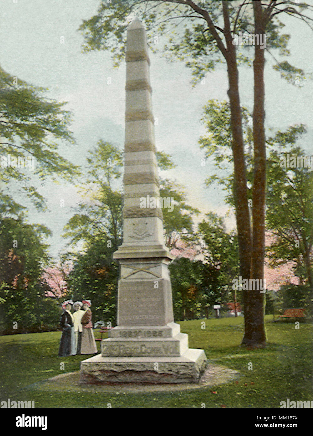 Monument of the 21st Regiment. New London. 1908 - Stock Image