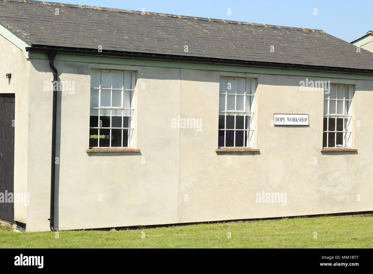 British Heritage - WW1 - Military Aviation historical sites. Photograph of the Dope shop at Stow Maries Aerodrome, Purleigh, Maldon, Essex. - Stock Image