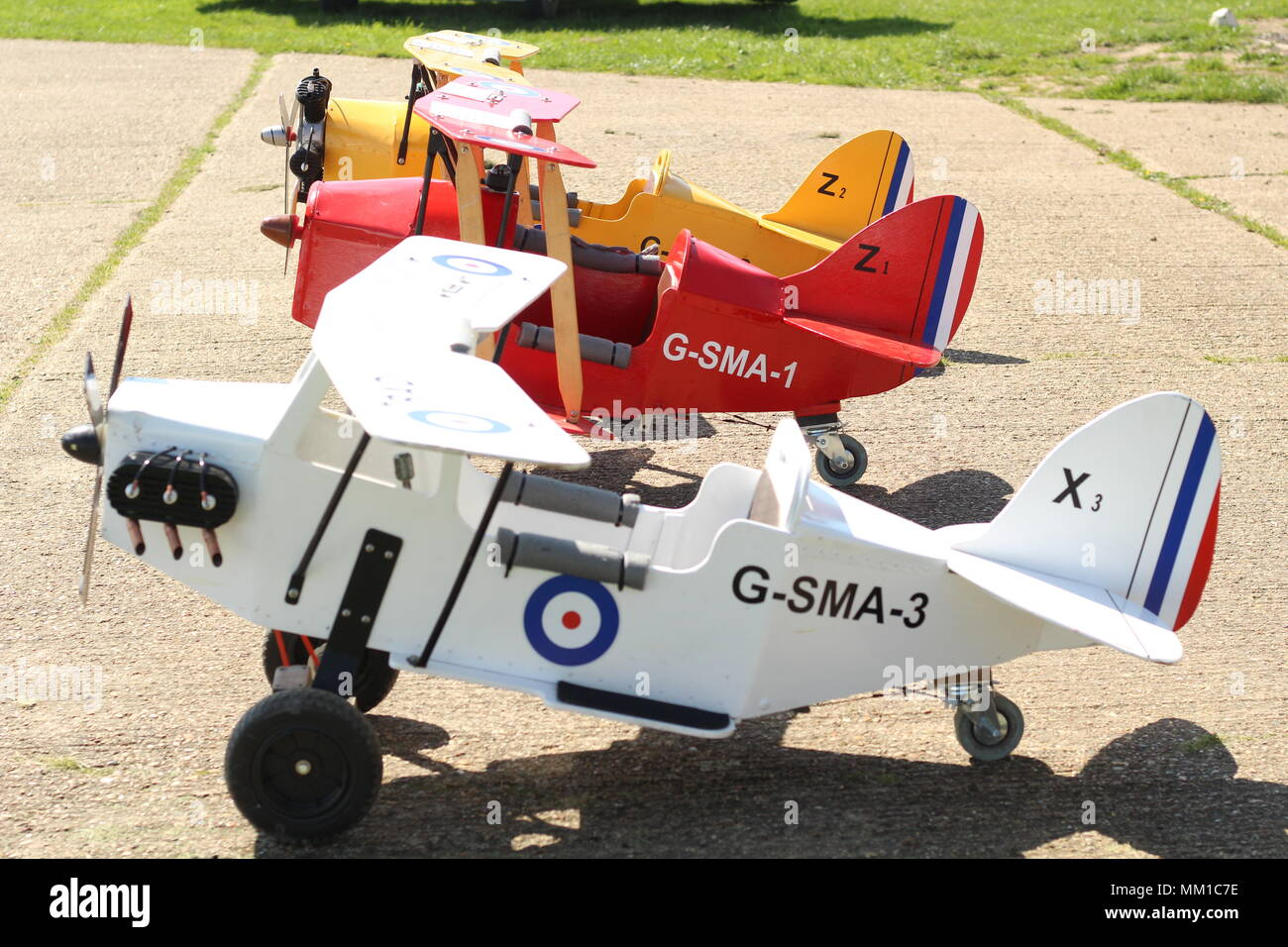 Children's Model Aircraft for recreational purposes, at Stow Maries Great War Aerodrome, Purleigh, Essex, Britain. - Stock Image
