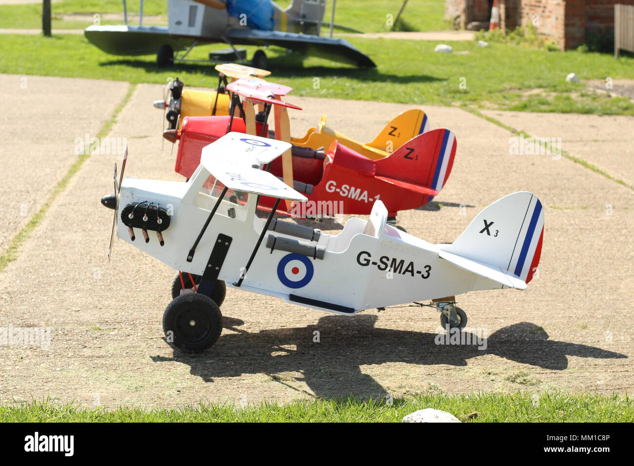 Children's Model Aircraft for recreational purposes, at Stow Maries Great War Aerodrome, Purleigh, Essex, Britain. Stock Photo