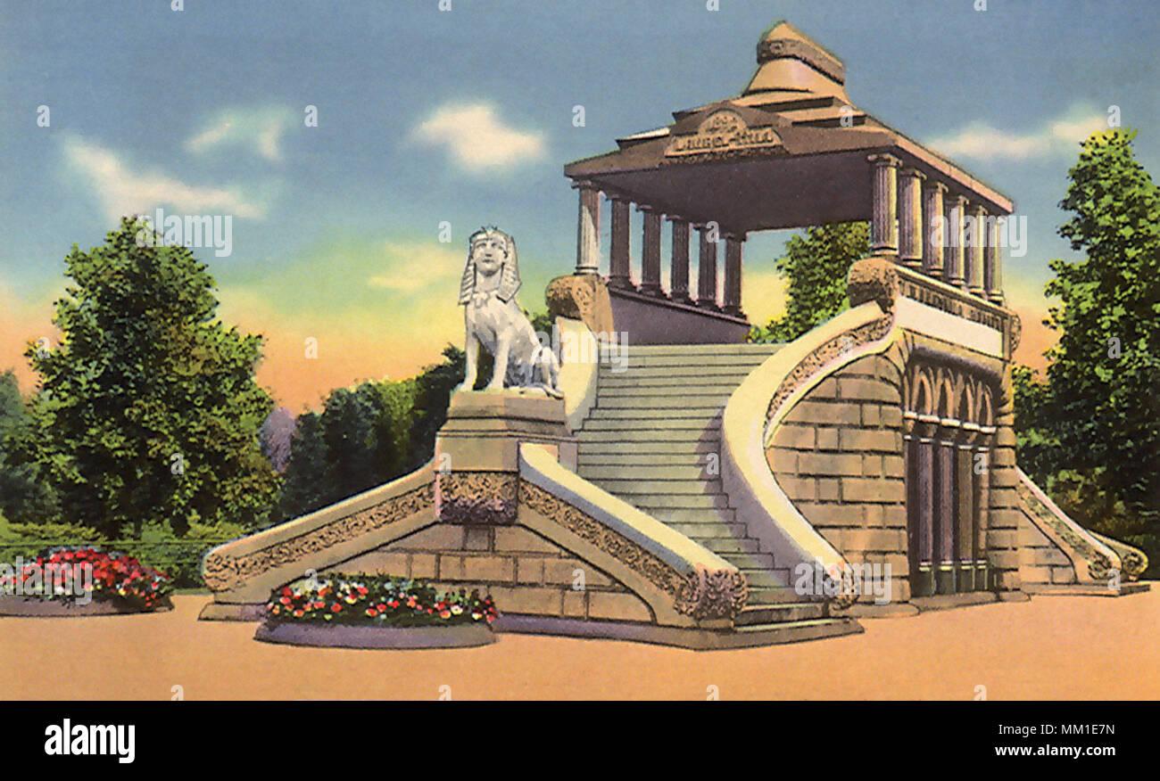 Barney Mausoleum. Forest Pk. Springfield. 1920 - Stock Image