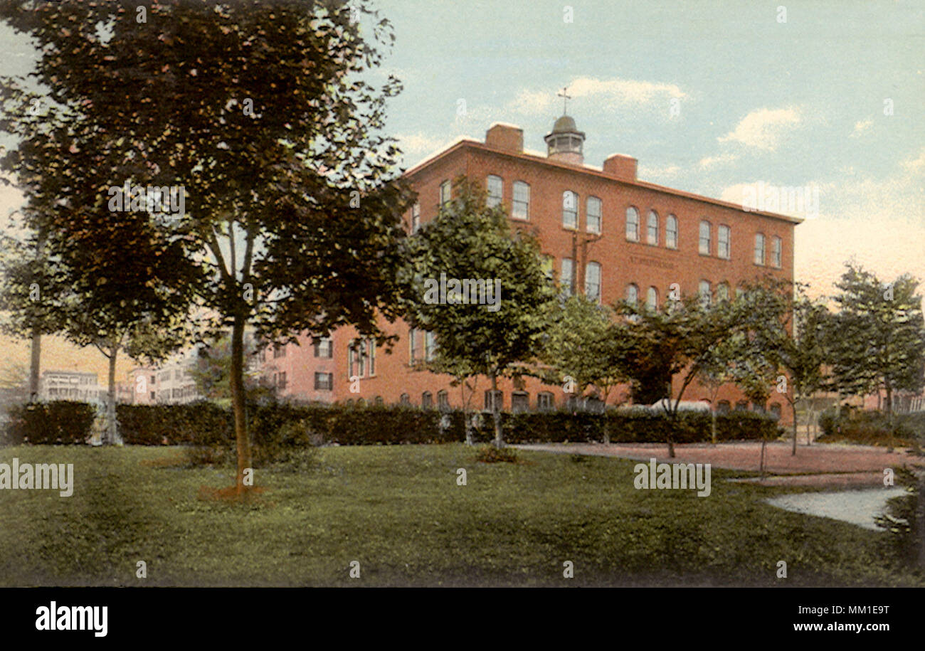 St. Joseph's School for Boys. Fitchburg. 1917 - Stock Image