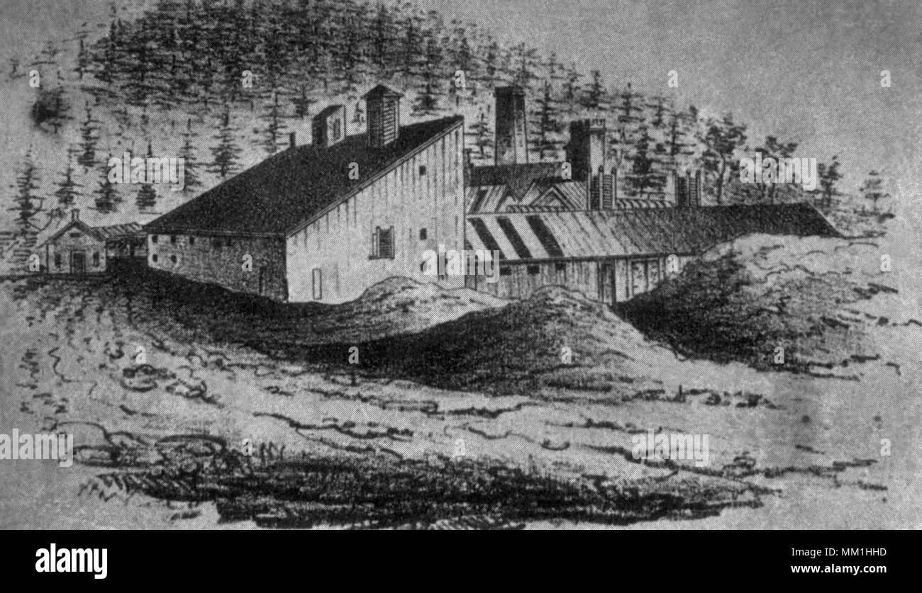 Bristol Copper Mine. Bristol. 1852 - Stock Image