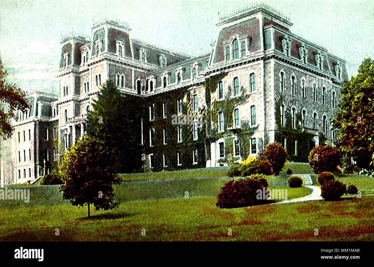 Pardee Hall of Lafayette College. Easton. 1907 - Stock Image