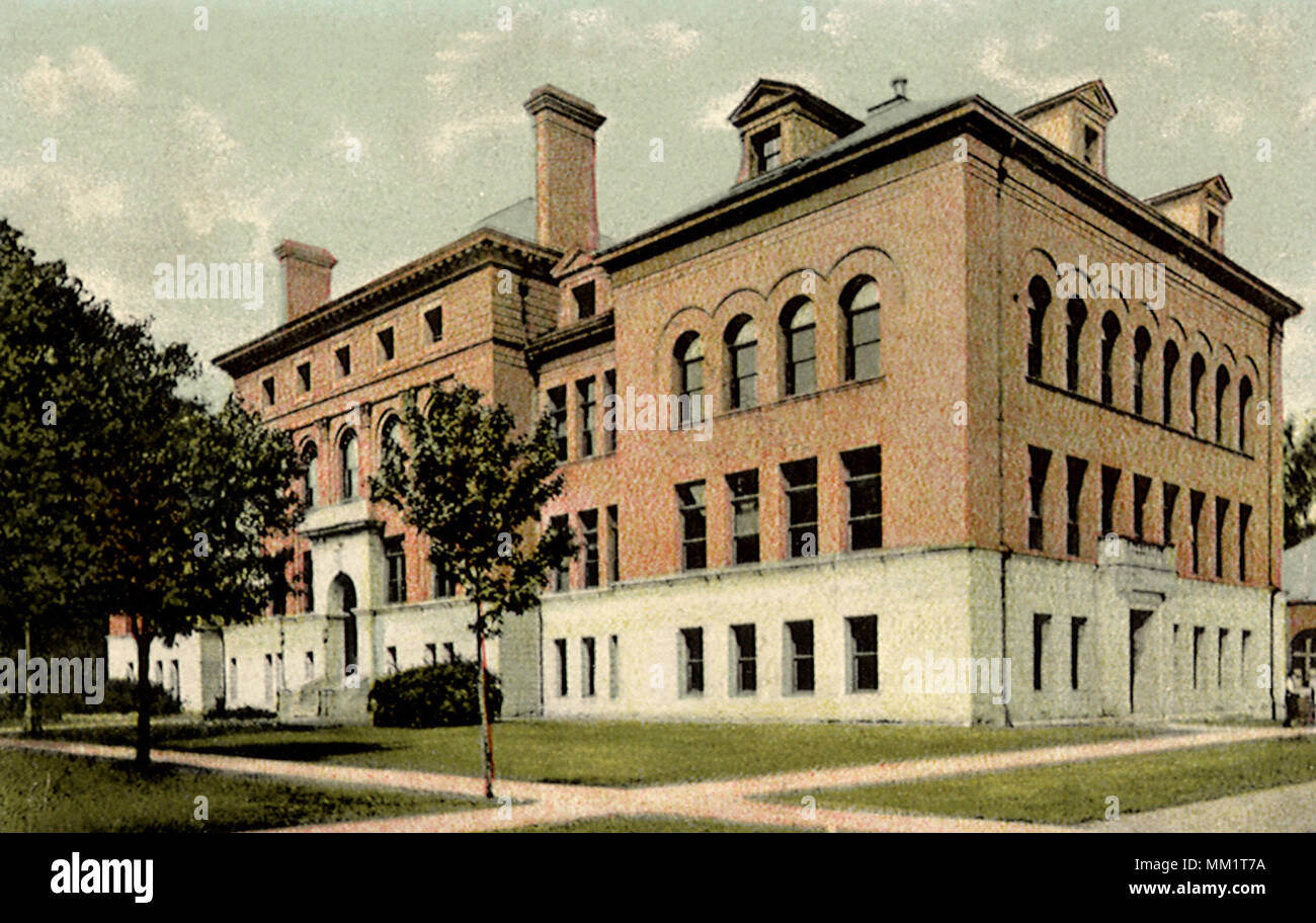 Engineering Building. Champaign. 1912 - Stock Image