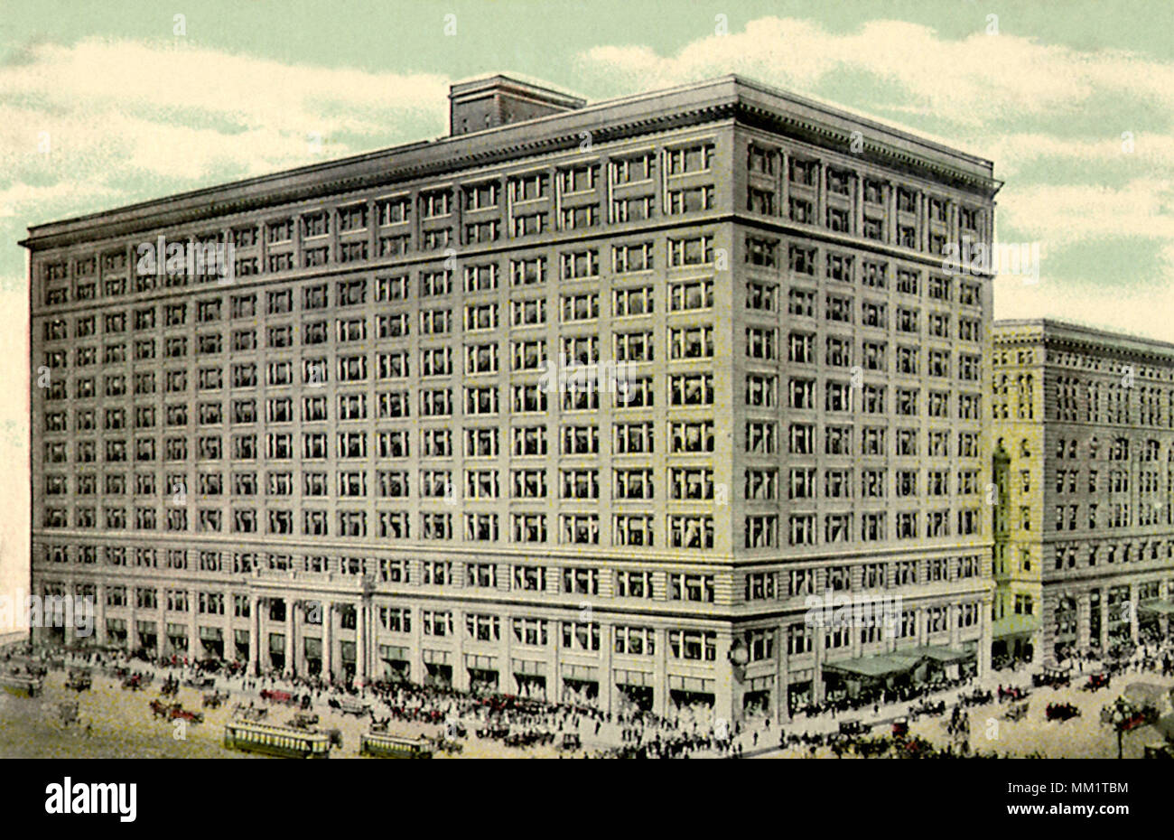 Marshall Field and Company. Chicago. 1910 - Stock Image