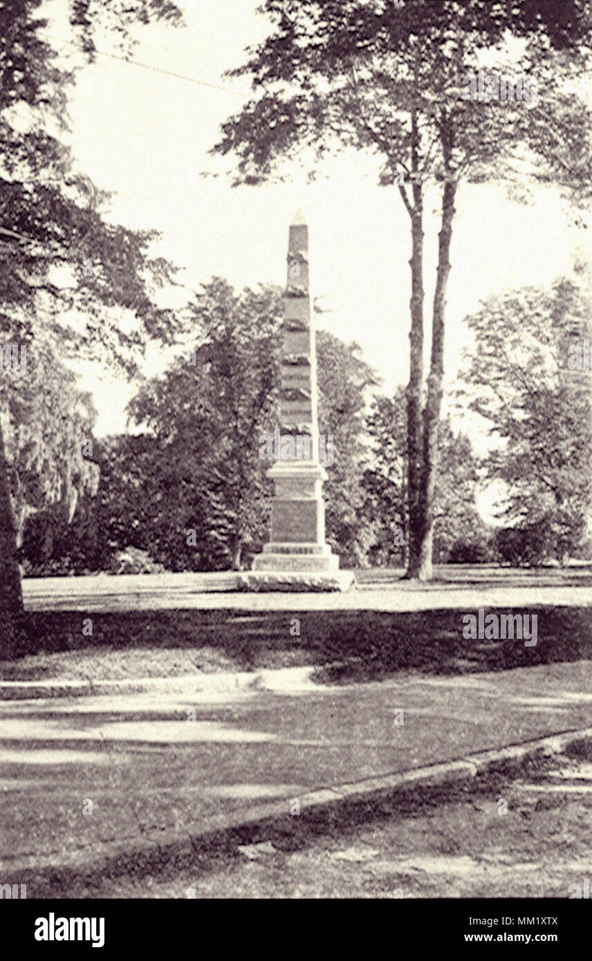 21st Regiment Monument. New London. 1901 - Stock Image