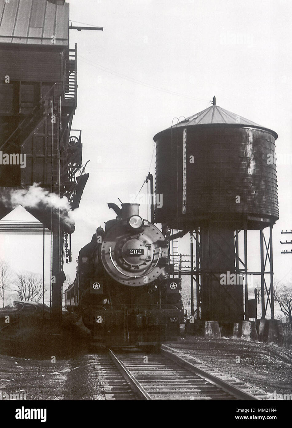 Baltimore & Ohio Railroad Diesel. Harpers Ferry. 1952 - Stock Image