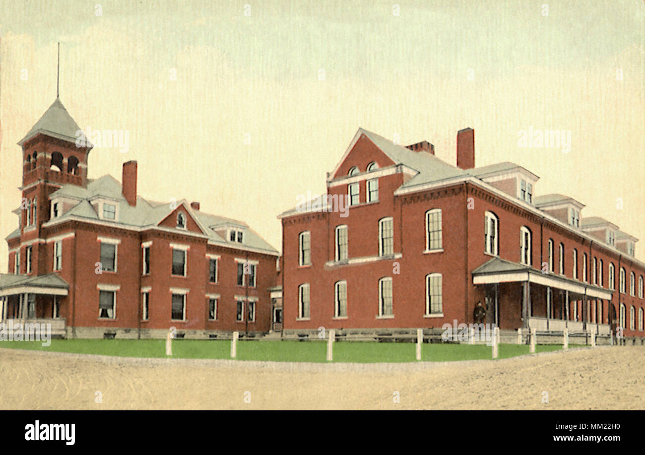 Mahoning County Infirmary Building. Youngstown. 1914 - Stock Image